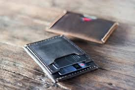 inside out slim leather wallet