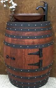 pin by noveltystreetcom on cool gift ideas bathroom wine barrel sink