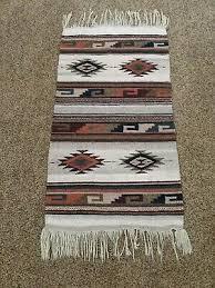 vintage native american navajo heavy wool rug 39 x 21 nice
