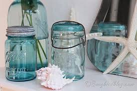 How To Decorate Canning Jars Decorating ideas with blue mason jars and flowers 59