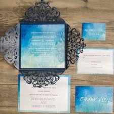blue watercolor laser cut wedding invites iwsm061 wedding Wedding Invitation Blue And Green blue watercolor laser cut wedding invites iwsm061 wedding invitation blue green motif