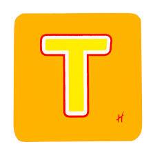 hamleys wooden letter t