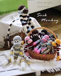 Sock Monkey Pattern Custom Sock Monkey Free Sewing Pattern Craft Passion