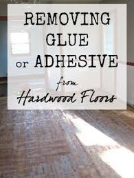 the speckled goat removing glue or adhesive from hardwood floors