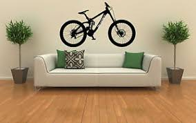 image is loading ghost downhill mtb mountain bike trails wall art  on downhill mountain bike wall art with ghost downhill mtb mountain bike trails wall art vinyl decal sticker