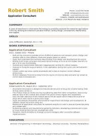 application samples application consultant resume samples qwikresume