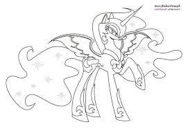 Unique Nightmare Moon Pony Coloring Page Teachinrochestercom