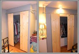 picture of closets with sliding barn style doors