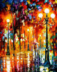 lonely night 3 palette knife oil painting on canvas by leonid afremov size