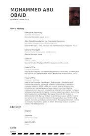 Executive Secretary Resume Examples Unique Executive Secretary Resume Samples VisualCV Resume Samples Database