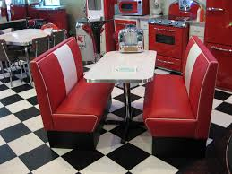 Old Fashioned Kitchen Table Black And White 50s Diner Cruiser Diner Booth Set 50s Diner
