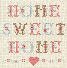 Small Picture Anchor Home Sweet Home Counted Cross Stitch Kit Amazoncouk
