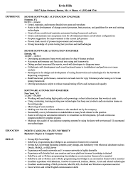 Tester Resume Samples Resume Templates For Automation Engineer Cv Template Tester Qa