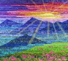 72 best My Landscape Quilts images on Pinterest | Quilt block ... & Carpathian Mountain Sunset - Cathy Geier. Strip pieced landscape quilt. Adamdwight.com