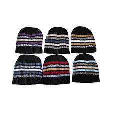 Winter Hat Designs 6 Units Of Mens Heavy Ribbed Beanie Winter Hat Striped Designs Winter Beanie Hats