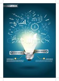 vector square blue icon lighting bulb. Stock Vector Of \u0027Vector Creative Template With Idea Light Bulb Broken\u0027 Square Blue Icon Lighting H