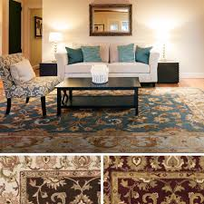 Hand-Tufted Wool Transitional Paisley Area Rug-(3'3