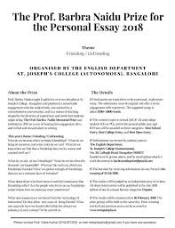 The Prof Barbra Naidu Prize For The Personal Essay 2018 Rum Lola Rum
