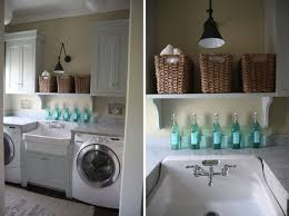 Martha Stewart Laundry Cabinet White Wood Completed Laundry Room