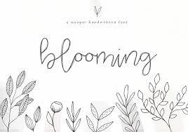 Script Designs Blooming Handwritten Script Font By Ka Designs