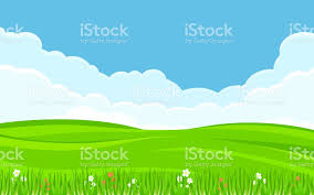 grass and sky backgrounds. Unique And Green Grass Field In Flat Icon Design With Blue Sky Background Royaltyfree  Green For Grass And Sky Backgrounds