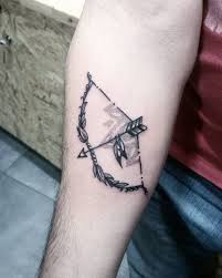 Tattoos Bow And Arrow Tattoo Small Double Meaning Tiny On Finger