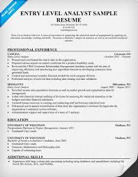 Entry Level Business Analyst Resume Free Resume Templates 2018