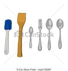 kitchen utensils vector. Vector Paint Illustration Of Kitchen Utensils
