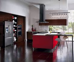 european style kitchen with red kitchen island kitchen craft