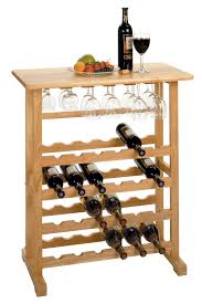 24 Bottle Wine Rack with Glass Rack