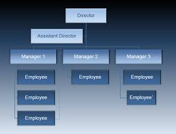 Animated Vertical Organizational Chart Fppt