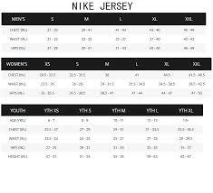 Nike Soccer Jersey Size Chart Size Chart Soccer Jerseys Fan Gears The Official Soccer