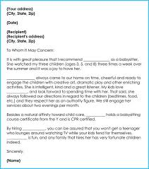 Reference Letter For Babysitter Smart Picture 1 Sample Of Colleague