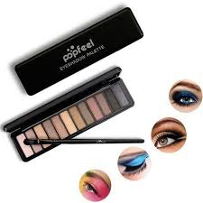 generic popfeel 12 colors eye shadow with free brush makeup new fashion eyes colors makeup pigment
