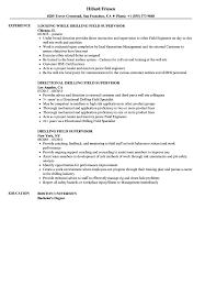 Drilling Supervisor Resume Samples Velvet Jobs