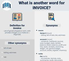 Synonyms For Invoice Thesaurus Net