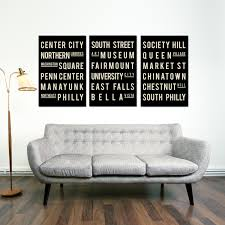 Small Picture Philadelphia Subway Sign Typography Art Philly City