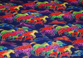 P56 Laurel Burch Horse Rainbow Horses Purple Green Red Blue Nature ... & P56 Laurel Burch Horse Rainbow Horses Purple Green Red Blue Nature Animals  Wildlife Cotton fabric Quilt fabric Adamdwight.com