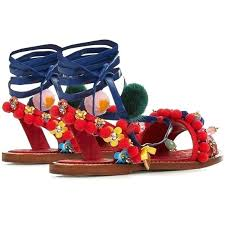 Image result for red ankle strap flat sandals