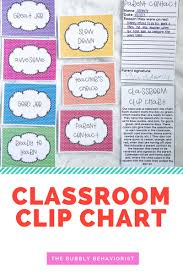 Clip Chart Behavior Management System Classroom Clip Charts The Bubbly Behaviorist