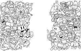Small Picture Nintendo Coloring Pages Within itgodme