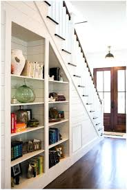 under stairs bookcase stair step shelf organizer staircase bookshelf under  stair storage shelf under stair storage