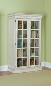 Large Cabinet With Doors Large Library Cabinet With 2 Glass Doors And Crown Molding By