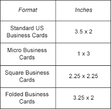business card size inches biz card sizes 2015 04 20 png 262 x 257 cool stuff pinterest