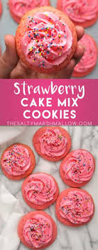 Strawberry Cake Mix Cookies The Salty Marshmallow