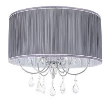 easy lighting. L\u0027amour Easy To Fit Light Shade - Grey Lighting