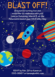 Space Party Invitation Space Birthday Party Invitations Blast Off Space Party