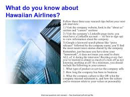 flight attendant interview tips hawaiian airlines interview questions and answers