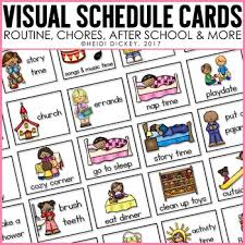 Visual Schedule Routine Chore Chart For Young Children