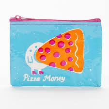 Blue Q - Pizza Money Coin Purse All Things Being Eco